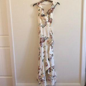 Leith Ruffle Wrap Maxi Dress xs/Garden Party print